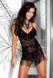 Erotická košieľka Axami V-5639 ONYX čierna