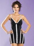 Dámska košieľka Obsessive Casablanca chemise čierno-biela